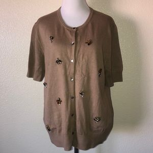 Ann Taylor jeweled cardigan